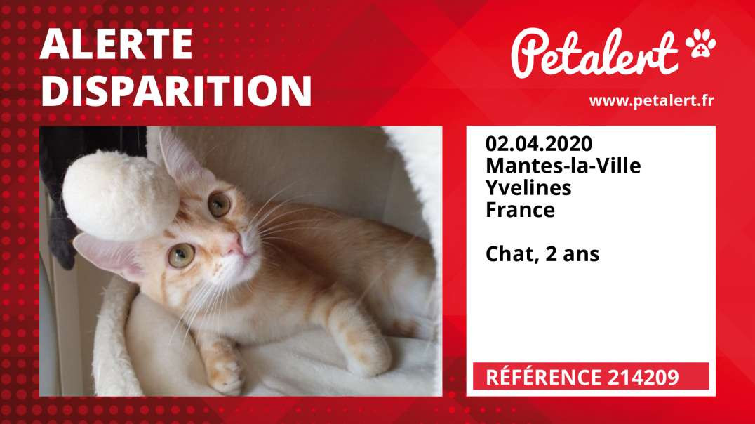 Alerte Disparition #214209 Mantes-la-Ville / Yvelines / France