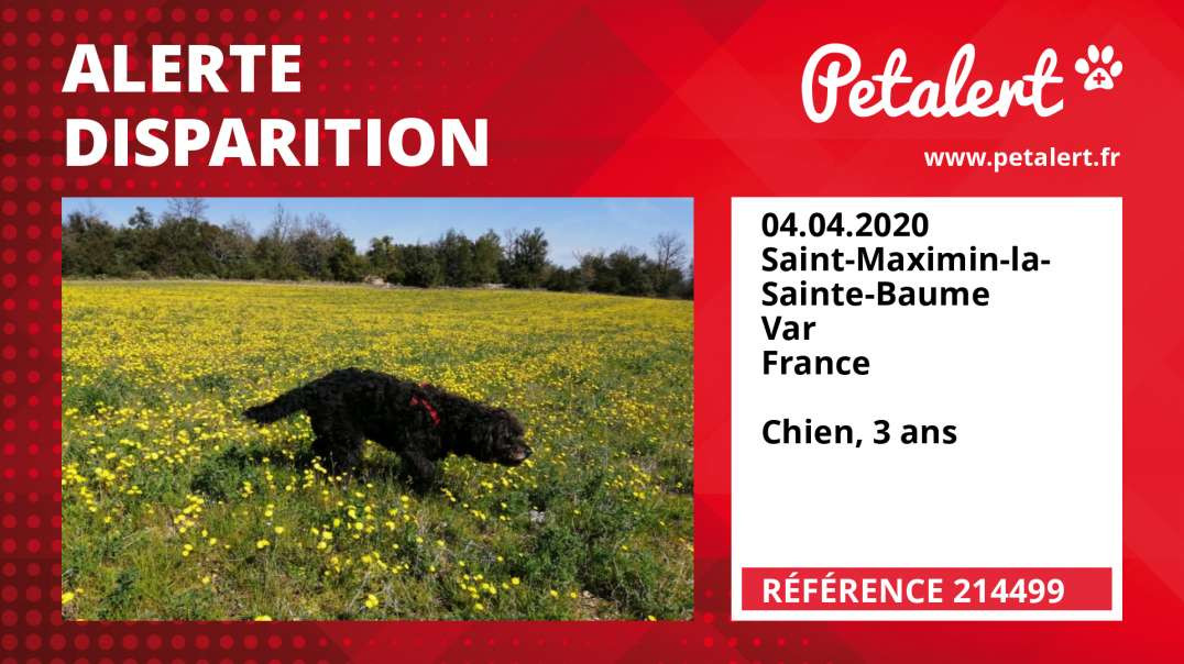 Alerte Disparition #214499 Saint-Maximin-la-Sainte-Baume / Var / France