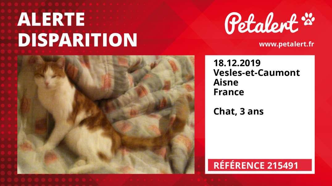 Alerte Disparition #215491 Vesles-et-Caumont / Aisne / France