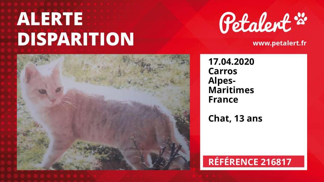 Alerte Disparition #216817 Carros / Alpes-Maritimes / France