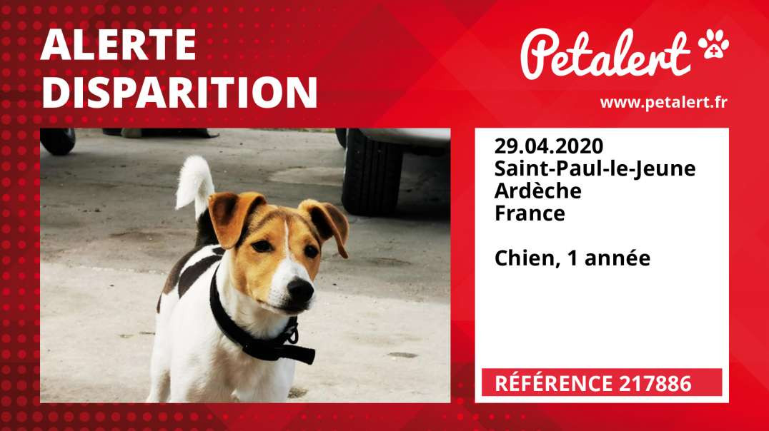 Alerte Disparition #217886 Saint-Paul-le-Jeune / Ardèche / France