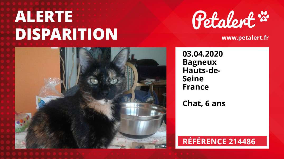 Alerte Disparition #214486 Bagneux / Hauts-de-Seine / France
