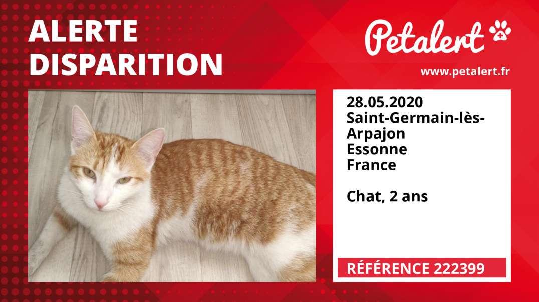 Alerte Disparition #222399 Saint-Germain-lès-Arpajon / Essonne / France