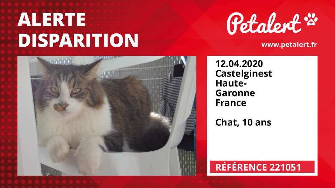 Alerte Disparition #221051 Castelginest / Haute-Garonne / France