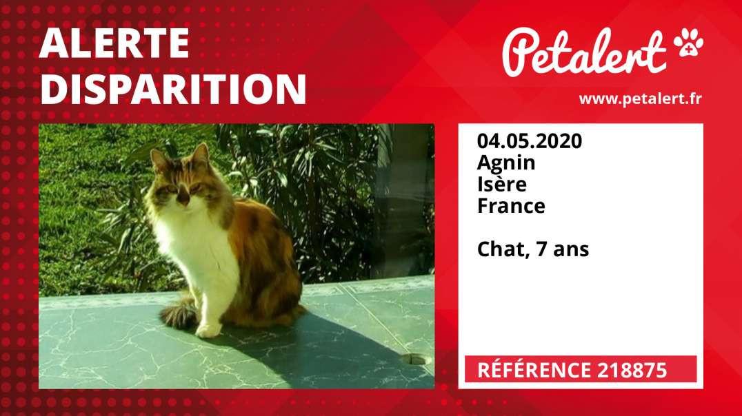 Alerte Disparition #218875 Agnin / Isère / France