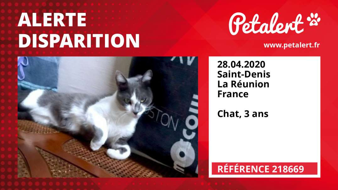 Alerte Disparition #218669 Saint-Denis / La Réunion / France