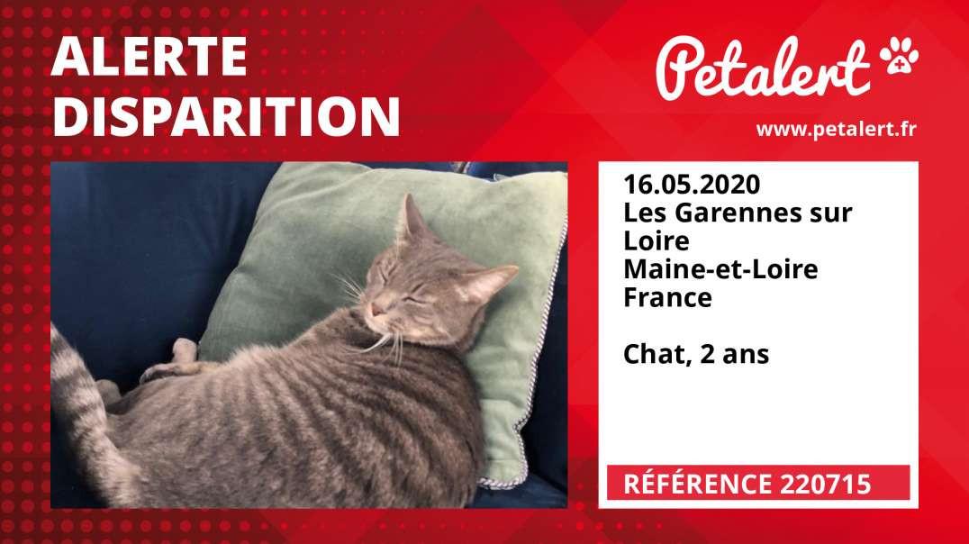 Alerte Disparition #220715 Les Garennes sur Loire / Maine-et-Loire / France