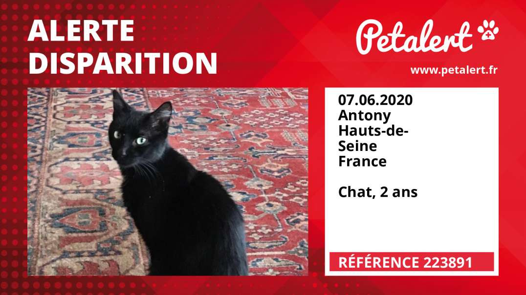 Alerte Disparition #223891 Antony / Hauts-de-Seine / France