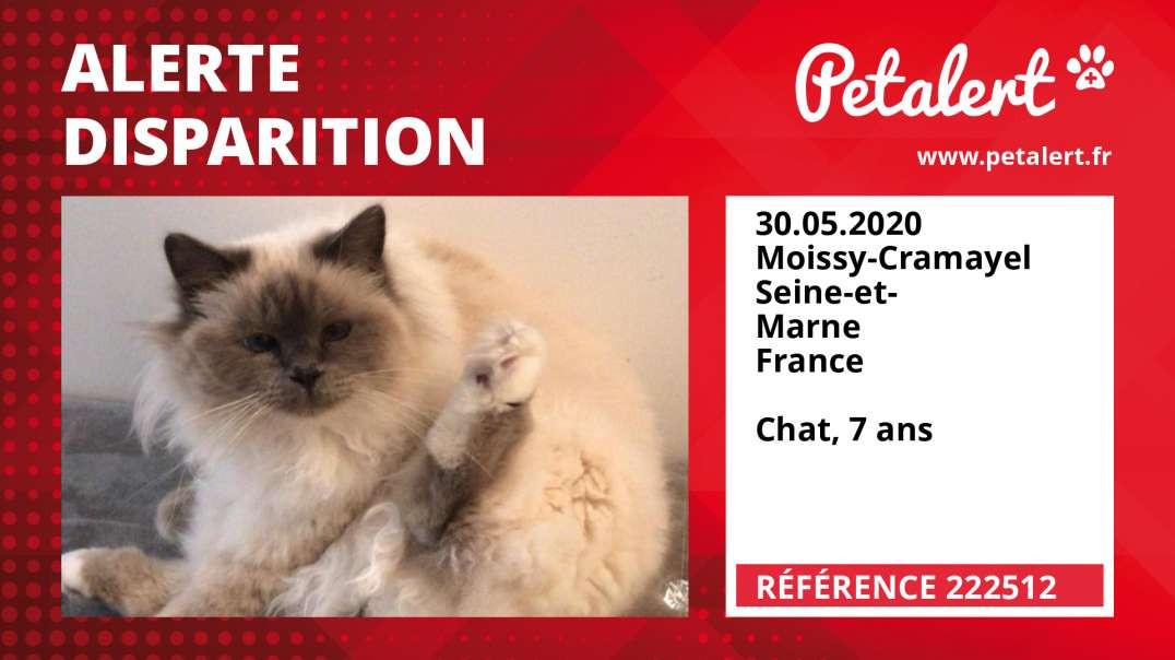 Alerte Disparition #222512 Moissy-Cramayel / Seine-et-Marne / France