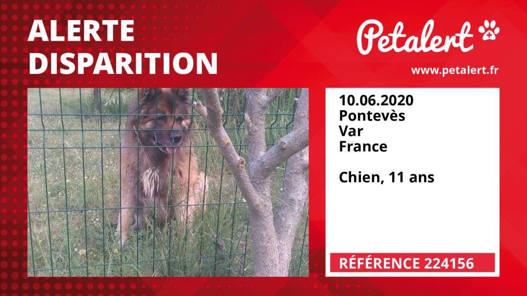 Alerte Disparition #224156 Pontevès / Var / France