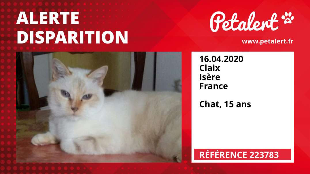 Alerte Disparition #223783 Claix / Isère / France