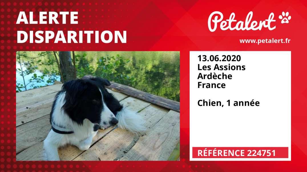 Alerte Disparition #224751 Les Assions / Ardèche / France