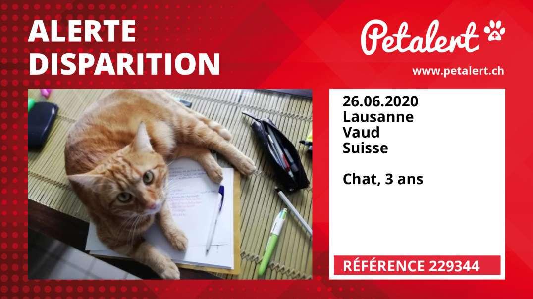 Alerte Disparition #229344 Lausanne / Vaud / Suisse