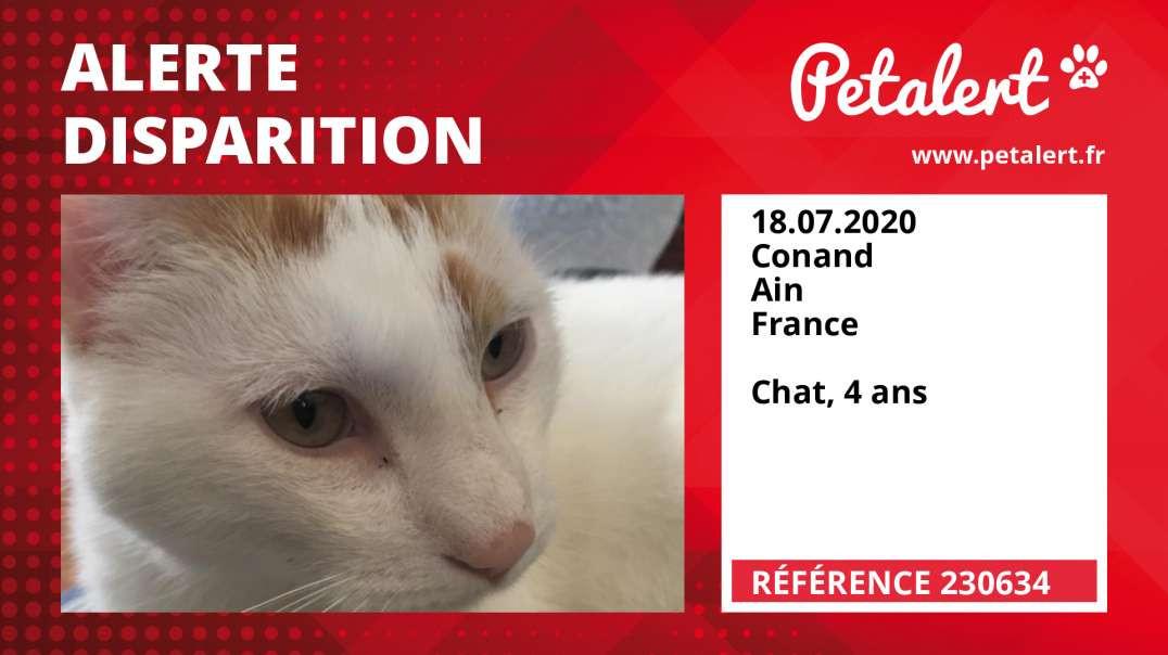 Alerte Disparition #230634 Conand / Ain / France