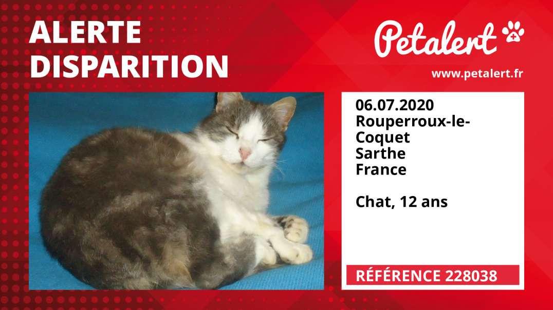 Alerte Disparition #228038 Rouperroux-le-Coquet / Sarthe / France