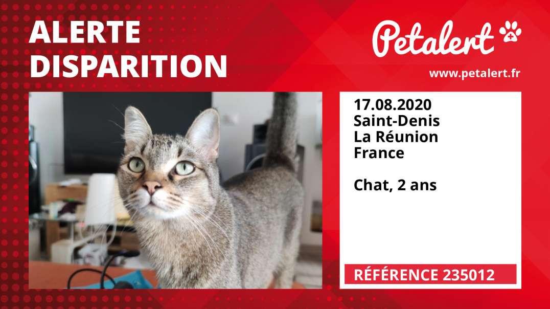Alerte Disparition #235012 Saint-Denis / La Réunion / France
