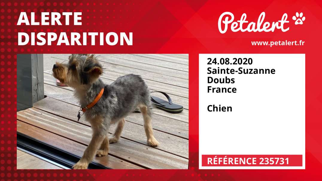 Alerte Disparition #235731 Sainte-Suzanne / Doubs / France