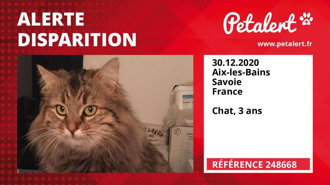 Alerte Disparition #248668 Aix-les-Bains / Savoie / France