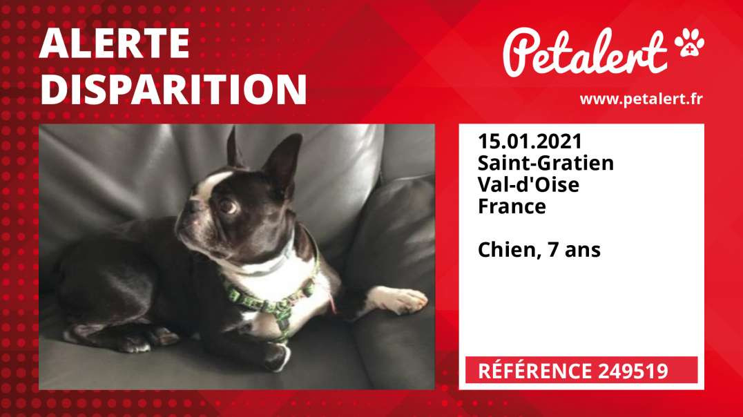 Alerte Disparition #249519 Saint-Gratien / Val-d'Oise / France